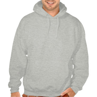 monocle mustache hooded pullover