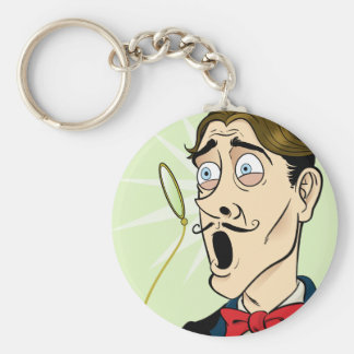 Monocle Shock Key Chain