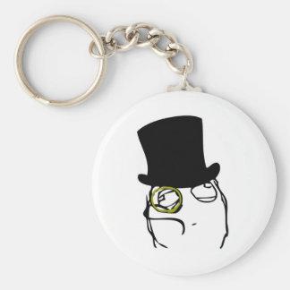 Monocled Sir Basic Round Button Keychain