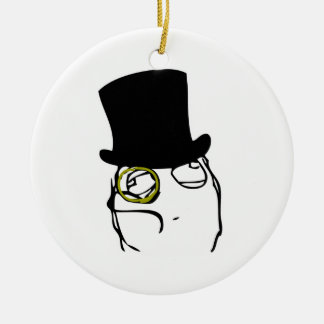 Monocled Sir Ceramic Ornament