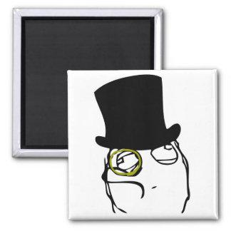 Monocled Sir Fridge Magnets