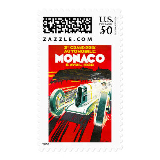 Monoco Grand Prix Vintage Travel Advertisement Postage