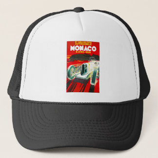 Monoco Grand Prix Vintage Travel Advertisement Trucker Hat