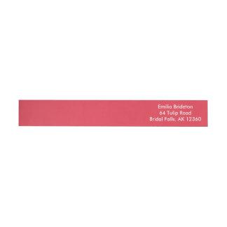 Monocromático exclusivo rojo de la amapola etiquetas envolventes de remitente