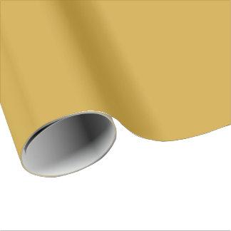 Monocromático simple del oro de Sheen del satén Papel De Regalo