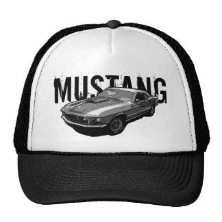Monocrome del mustango de Ford Gorras