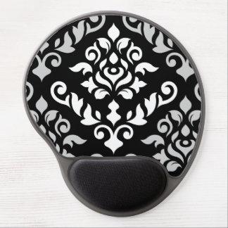 Monocromo barroco del diseño del damasco alfombrilla con gel