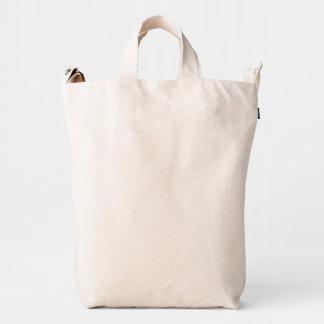 Monocromo blanco quebradizo bolsa de lona duck