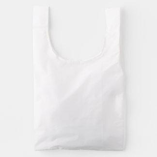 Monocromo blanco quebradizo bolsa reutilizable
