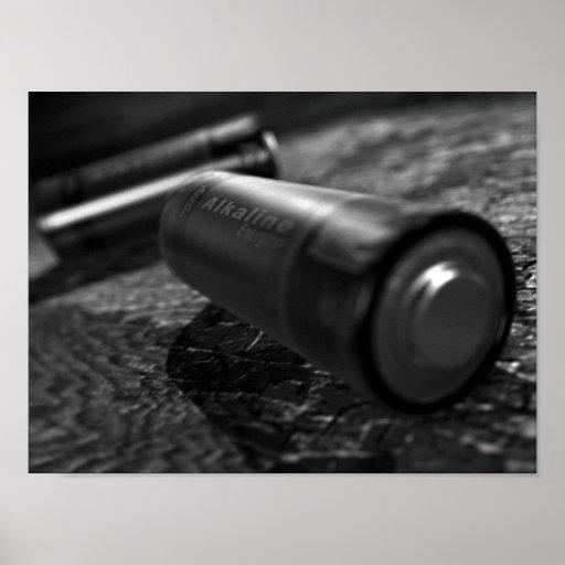 Monocromo de la batería impresiones