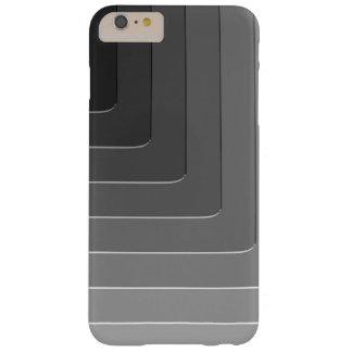 Monocromo gris del negocio funda de iPhone 6 plus barely there