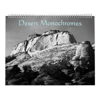 Monocromos del desierto calendario