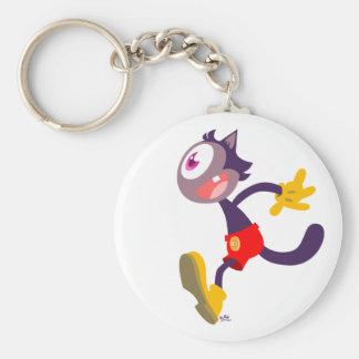 Monocular cat cartoon keychain