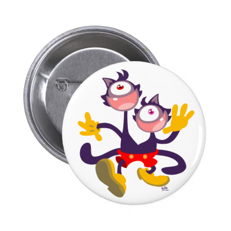 Monocular Cats in Tandem Walk button badge