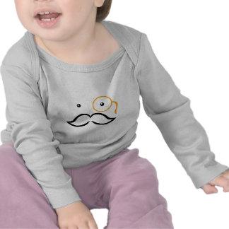 Monóculo y bigote camisetas