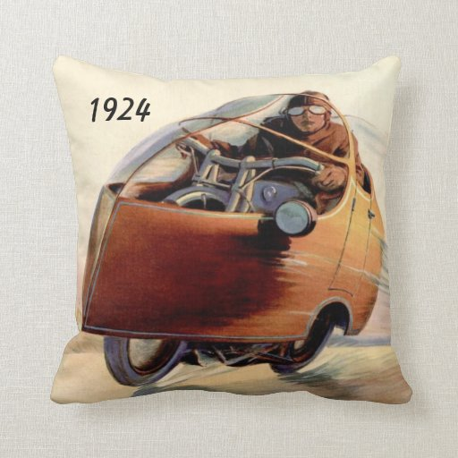 Monocycle of the 1920's pillow
