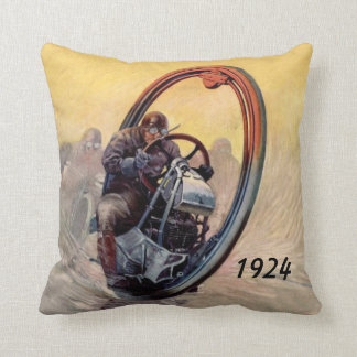 Monocycle of the 1920's throw pillow