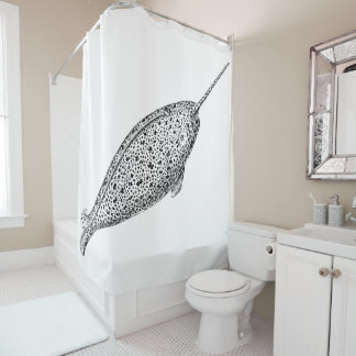Monodon monoceros shower curtain