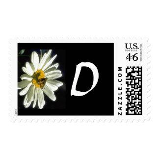 Monogram 298 Letter D Postage Stamp