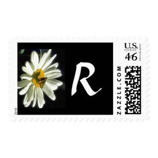 Monogram 298 Letter R Postage