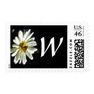 Monogram 298 Letter W Postage Stamp