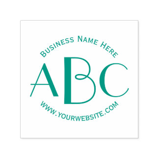 Monogram 3 Letter Initials Custom Business Name Self-inking Stamp