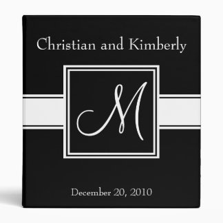 Monogram 3 Ring Binder