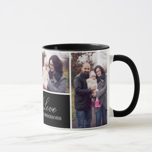 Monogram 4 Photo Collage Mug