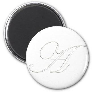 Monogram A 2 Inch Round Magnet