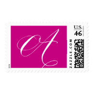 Monogram A 8 by Ceci New York Postage Stamp