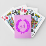 Monogram A Bicycle Poker Cards
