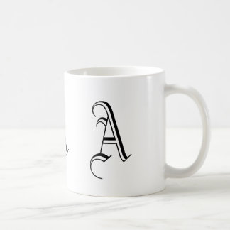 Monogram A Black and White Decorative Coffee Mug