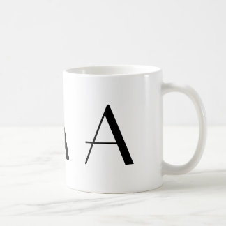 Monogram A Black and White Modern Coffee Mug