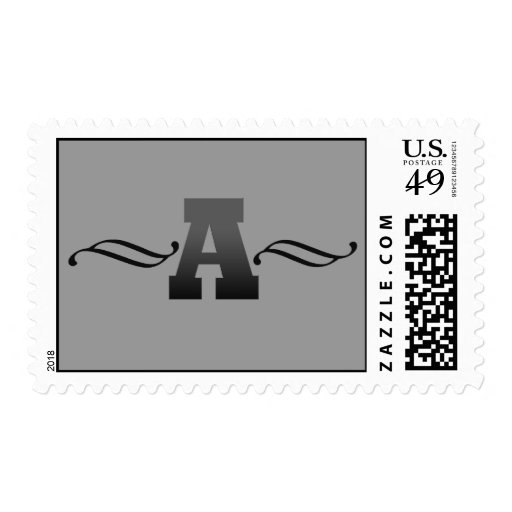 Monogram A, black Postage