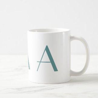 Monogram A Blue and White Modern Coffee Mug