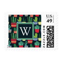 Monogram | A Crowd of Cactus Postage