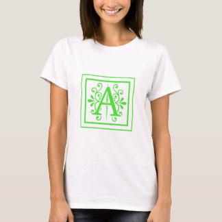 MONOGRAM A FLORESCENT GREEN T-Shirt