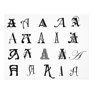 "Monogram ""A"" Flyer"