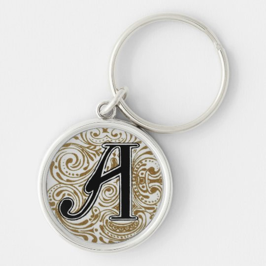 Monogram 'A' in Gold - Keychain