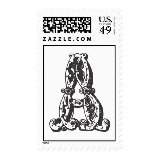 Monogram A Initials Letter Stamps