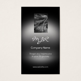Monogram, A Journey Made, metallic-effect Business Card