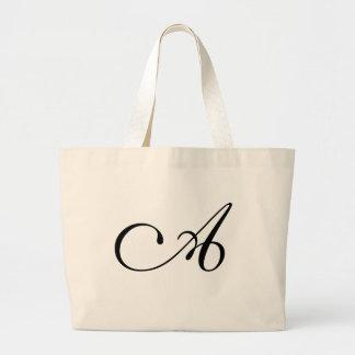 Monogram A Jumbo Tote Bag <White>