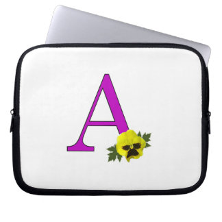 "Monogram ""A"" Laptop Computer Sleeves"