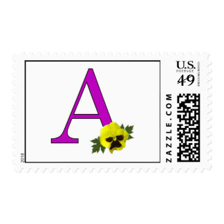 "Monogram ""A"" Postage Stamp"