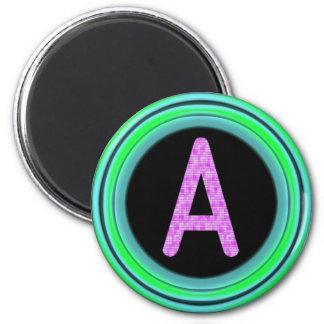 """Monogram """"A"""" Refrigerator Magnet"""