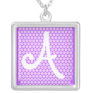 Monogram A Silver Plated Necklace