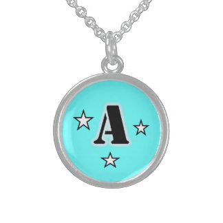 Monogram A Stars Necklace