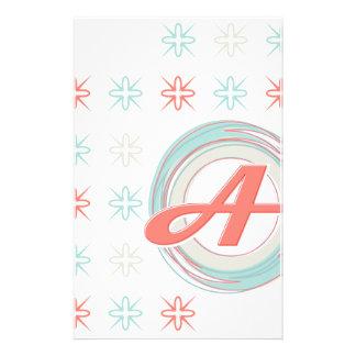 "Monogram ""A"" Stationery"