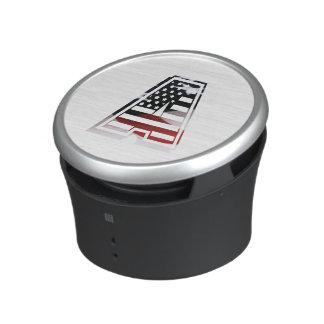 Monogram A USA Flag American Initial Bluetooth Speaker