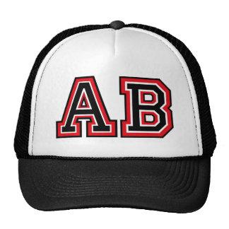 Monogram 'AB' initials Trucker Hat